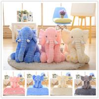 Wholesale New Soft Elephant Baby sleeping pillow blanket Elephant Plush Toys dolls Stuffed Animal Toys Elephant Throw Pillow B0853