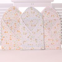 Wholesale Summer Bamboo Fiber Baby Bath Envelop Newborn Receiving Blankets Fashion