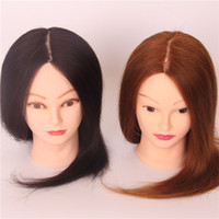 Wholesale 2016 New Style Fashion Inch Not Contain Chemical Fiber Human Straight Include Animal Hair Training Head Cosmetology Mannequin