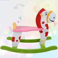 Wholesale 2016 Wooden Rocking Horse Animal Kid Chair Children Baby Vintage Rocker Toy Infants Baby Kids Developmental Toy Bithrday Gift New Hot sale