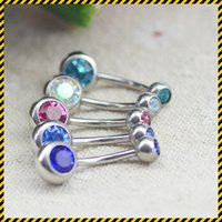 barbell balls jewelry - 20pcs Body Piercing Jewelry Silver Plated Bar Ball Barbell Belly Navel Button Ring