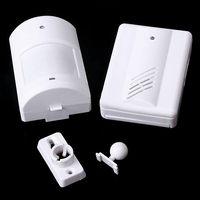 Wholesale New Wireless Infrared Monitor Sensor Detector Entry Door Bell Alarm Chime GOCG E00224 CAD