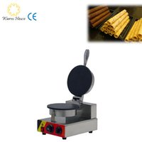 Wholesale 1Pcs W Round Big Flat Cake Machine Waffle Cone Maker