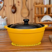 Wholesale Korean fire high temperature ceramic cooking pots casserole stew pot soup pot of porridge soup pot large casserole Kamameshi