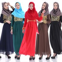 Wholesale Women dress Muslim robe dress Dubai robe Muslim women long dress