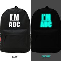 Wholesale Night luminous LOL fans league of legends backpacks waterproof student school bags boys girls travel bags canvas bookbag