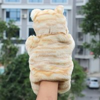 Wholesale New Arrival Hand Puppets bear Plush Velour Animals Hand Puppets for Kid Child Gifts Learning Aid Toy
