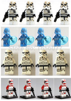 baby desert - 8pcs Star Wars Desert Storm Trooper blue clone Solider minifgures with weapons block bricks baby toys compatible