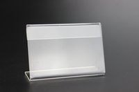Wholesale 110X85mm thickness mm Acrylic Sign Display Promotion Card Table Label frame L Stand POP desktop name card label holder rack