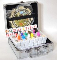 big dominos - Double Mexican Train Dominos Number Chicken Foot w Hub Aluminum Case NEW