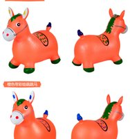 baby nursery items - Baby music jumping deer animal inflatable toys thickening children years old nursery sport horse jumping horse