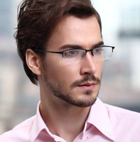 Wholesale Pure Titanium Half Rim Optical Eyeglass Frame Men Spectacles Glasses Eyewear NEW