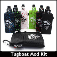 aluminum boat kits - Tug boat Box Mod Kit Unregulated Box Mods Starter Kit Matching RDA Atomizers PEEK Aluminum Body With MOSFET fit Batteries