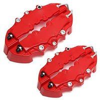 auto calipers - Universal Car Auto Disc Brake Caliper Covers pair Front And pair Rear RED only