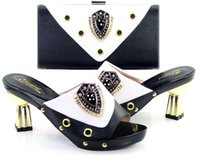 african cloth designs - vivilace brand shoes BLACK new arrival free by DHL shipping matching Italian design African women s party shoes and bag sets SIZE