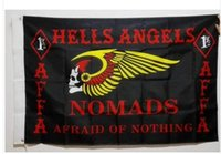 angels hanging - New fashion feet Hanging Hells Angels MC Flag Motorcycle Club Flag Office Activity parade Festival Home Decoration