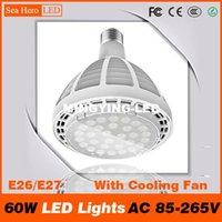 ac pc fan - 60W LED Lights PAR38 bulb spotlight Flood light Professional Lamps E26 E27 with Cool Fan AC V Cree chips led PC