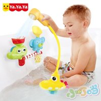bathtub game - Fountain Baby Bath Toys Game for Children Kids Water Spraying Taps Bathroom Bathtub Toys Play Sets dabblingl Toys Gifts
