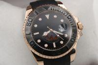 auto rubber - Hot Sale Rlx Master Auto Oysterflex bracelet Gold Gent s Wrist watch mm Sapphire glass Original clasp HK