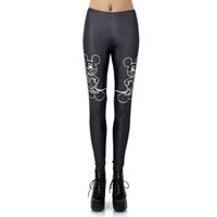 active stick - New Arrival Sexy Girl Cartoon stick figure mouse Micky Rat Printed Elastic Fitness Polyester Workout Women Sport Leggings Yoga Pants
