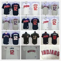 Wholesale Cleveland Indians Francisco Lindor Grey Gray White Blue Pull Down Army Green Stitched Majestic MLB Baseball Jerseys