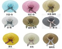 Wholesale 2016 NEW Hot Fashion Women s Foldable Wide Large Brim Floppy Summer Beach Sun Straw Hat Cap