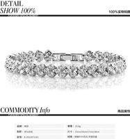 Wholesale Roman AAA Zircon Bracelets Fashion and Classical Style High Quality Gemmy Bracelet Platinum Plating Crystal Luxury