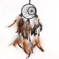 bead wall hanging - Creative Dream Catcher Wall Hanging Home or Car Decoration Bead Ornament with Feathers