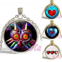 anime jewelry - Anime game jewelry The Legend of Zelda Pendant Necklace Photo space glass cabochon necklace chirstmas gift for children