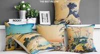 Culture japonaise Yamato-E Oriental Design Design Pillow Massager Art Peinture Encolure Euro