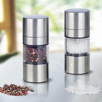 Wholesale High Quality Steel Stainless Manual Salt Pepper Mill Grinder Portable Kitchen Mill Muller Tool