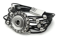 Wholesale Snap Button Bracelet Jewelry Leather Chain Ginger Snaps Jewelry Snap Jewelry Fit mm Interchangeable Bangle