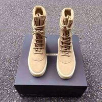 Wholesale New Kanye West Season Crepe Boot YEZ New Boot High Cut Made in Spain with Original box fashion sneakers Men women boot size