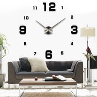 Wholesale fashion D big size wall clock mirror sticker DIY wall clocks home decoration large wall clock meetting room