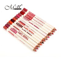 Wholesale 12pcs MENOW Lip Liner Pencils Colors Durable Waterproof Long Lasting Easy Coloring lip liner lip gloss for Weeding Party Salon Home Use