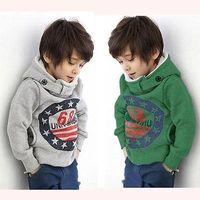 Wholesale Cartoon Baby Boys Girls Kids Coat Hoodie Jacket Sweater Pullover Outwear New Hot Sale