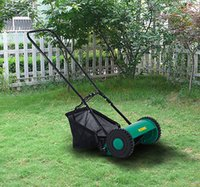 Wholesale Hand Push Lawn Adjustable Reel Mower w Grass Catcher Blade Classic