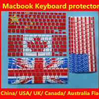 Wholesale Macbook Keyboard screen protector covers for Macbook Air Pro inch USA Australia Canada China Uk Flag keyboard protectors