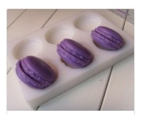 Wholesale 6 Cavity Half Macaron Soap Mold Silicone Mould For Handmade Soap Candle Candy Cake Fimo Resin Crafts baking suppies bath