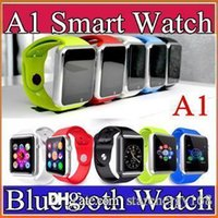 Wholesale 20X Smart Watch Bluetooth DZ09 A1 U8 Smartwatch Apple iWatch Support SIM TF Card Smart Wrist Watches With Silicone Strap Smartphone F BS