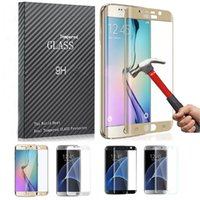 Wholesale Samsung Note S7 S6 edge plus D Full Coverd Colored Huawei P9 plus LG G5 Tempered Glass Full Coverage Colorful Screen Protector