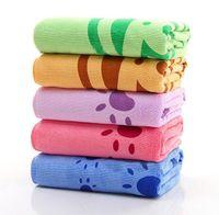 animal print mat - 70x140CM Microfiber Polyester Nylon animal printed Bath towel mat for new born dogs