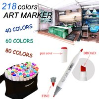 Wholesale Artist Double Headed Marker Set Design Mark Pen Animation Design Paint Sketch Copic Markers For Drawing