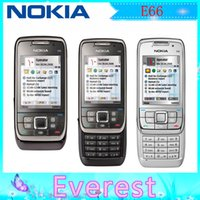 Wholesale Top Quality Original Nokia E66 Unlocked Refurbished G MP Camera GPS WIFI Support Russian Keyboard mobile phone