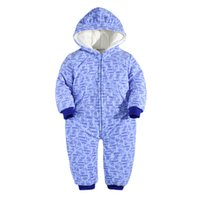baby wear suppliers - Children wear add cotton thick jumpsuit for winter comfortable for newborn baby hoodies sweatshirts supplier China