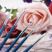 Wholesale 2016 Brand NEW Set Polish Brush Set Nail Art Design Painting Tool Pen Gel UV Nail Print Brush Kit