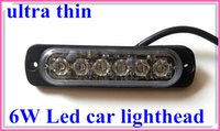 Wholesale Extra thin W Led car External warning Lights surface mounting grill light led strobe light lightheads flash waterproof