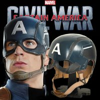 Wholesale Captain America Civil War Steve Roger Blue Helmet Hat Cosplay Prop FRP Metal Cosplay Hat Head Circumference CM or CM