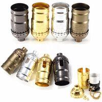 Wholesale Best Promotion E27 Retro Vintage Aluminum Zipper Style Lamp Light Holder Pendants Socket V