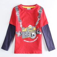 Wholesale New Kids Clothing Boy Baby Long Sleeved T shirts Fashion Red
